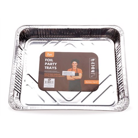 Foil-Party-Tray-Rectangle-2Pk