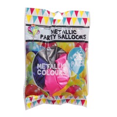 Balloons-Metallic-Mixed-Col-25Pk