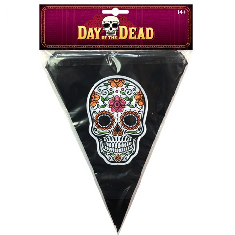 DAY OF THE DEAD BANNER 10pk 3.6m 2 ASSROTED