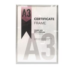 Certificate-Frame-A3-Silver