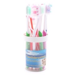Toothbrush-Family-W/Cup-12Pk