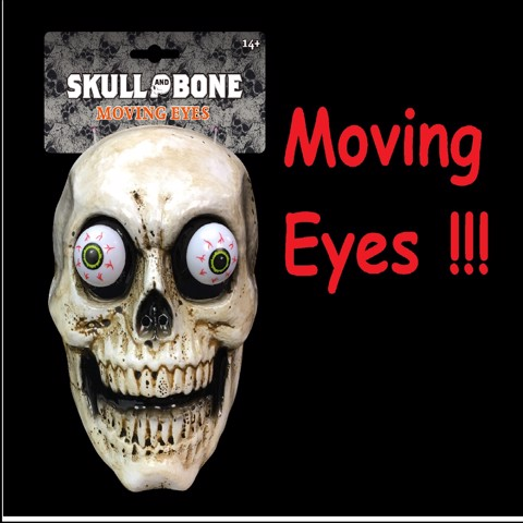MOVING EYES SKULL MASK