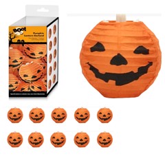 10 PUMPKIN MINI LANTERN GARLAND 2.25m