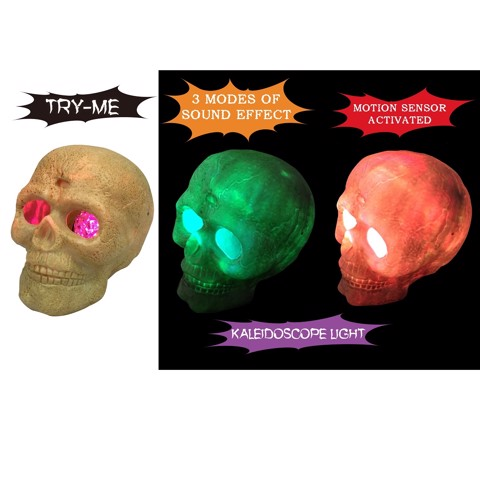 LIGHT UP GIANT SKULL WITH SOUND tryme