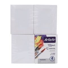 Artist Canvas Mini 7X9Cm 4Pk