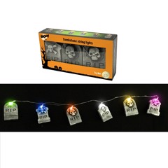 6 LED LIGHT UP TOMBSTONES GARLAND Try-me
