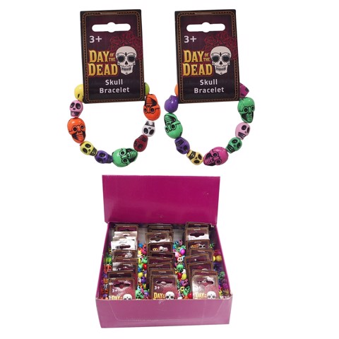 COLOURFUL SKULL BRACELET ASSORTED
