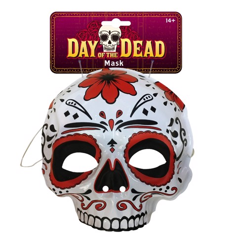 DAY OF THE DEAD BLISTER HALF MASK