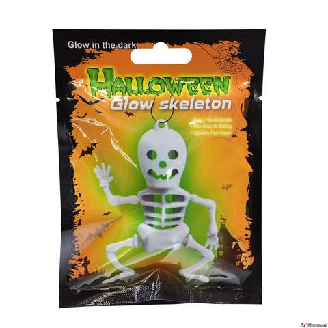 GLOW SKELETON NECKLACE 4 COLOUR ASSORTED