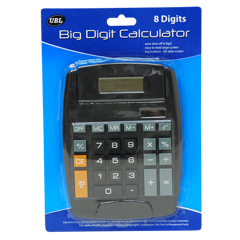 Calculator Big 8 Digit Display