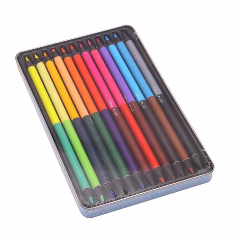 Colour Pencils Double End 12Pc