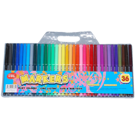 Coloured Markers 36Pk