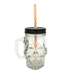 SKULL GLASS JAR 400ml