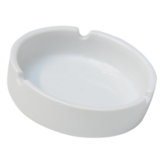 Ashtray White Porcelain 10Cm