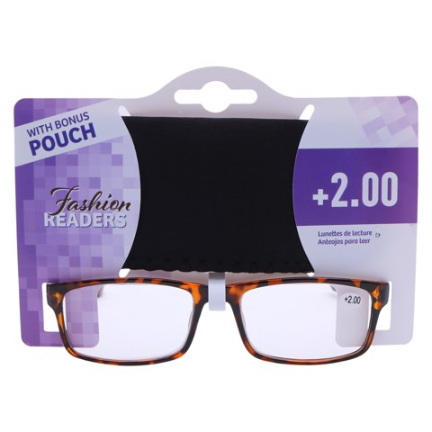 Reading-Glasses-W/Pouch-+2.00