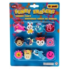 Erasers-Funky-12Pc-Set-Assorted
