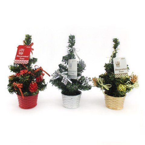 Xmas Table Tree Decorated 22Cm Uncle Bills XA0494