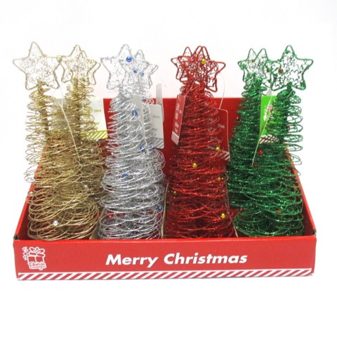 Glitter Spiral Tree with Beads 25cm Uncle Bills XA2837