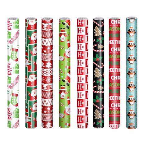 Xmas Wrap Paper 70cm x 10m Uncle Bills XA4004