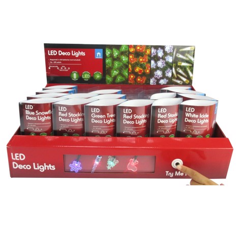 LED Deco Lights B/O 10pc 4asst Uncle Bills XA7892