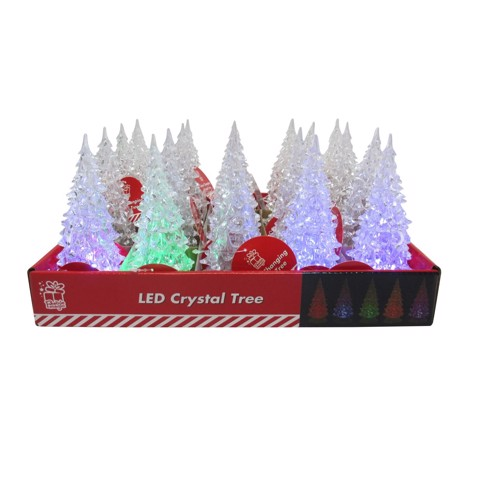 LED Crystal Tree 14cm Colours Change Uncle Bills XA8707