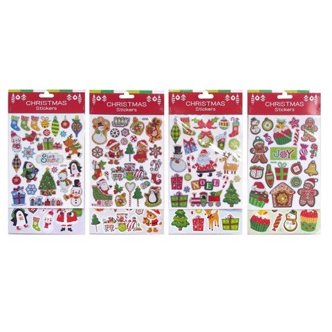Xmas Laser Sticker 2 Sheets Uncle Bills XB1280