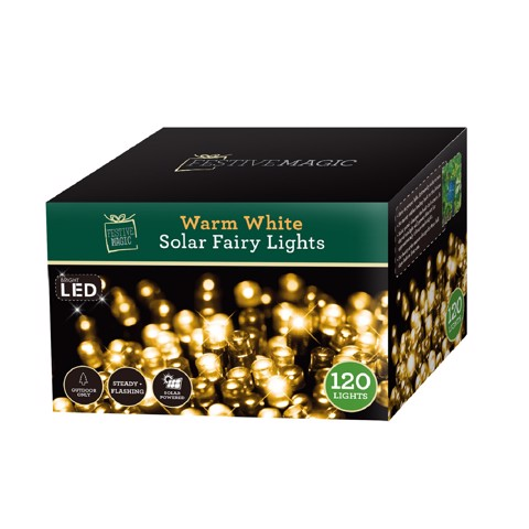 SOLAR LED FAIRY 120 WARM TRY ME SRT  Uncle Bills XB2696