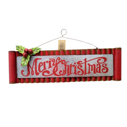 VINTAGE MERRY CHRISTMAS SIGN 47cm Uncle Bills XB3263