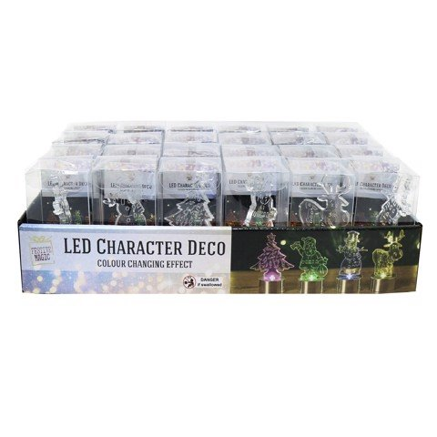 CHARACTER ACRYLIC LED COL CHGE 4ASST Uncle Bills XB3396