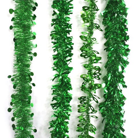 GREEN TINSEL MIX 2m 4asst Uncle Bills XB4089