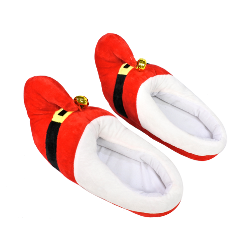 SLIPPERS SANTA W/NUTBELL 2 SIZES Uncle Bills XB4361