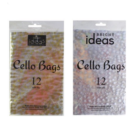 CELLO STAR BAG W/TIES 12pc Uncle Bills XB4629