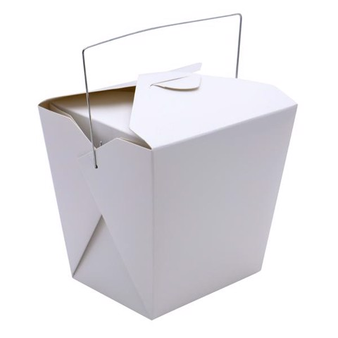 Paper box for food (white) 5 pieces / set