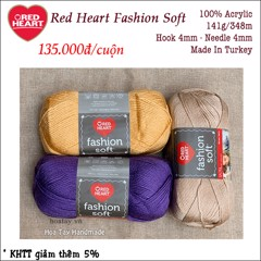 Len Red Heart Fashion Soft USA