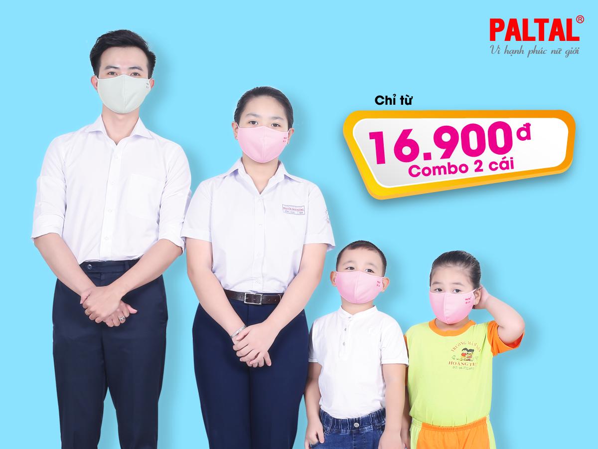 Khẩu trang kháng khuẩn baby cấp 2 combo 2 ktkk 310p 0010