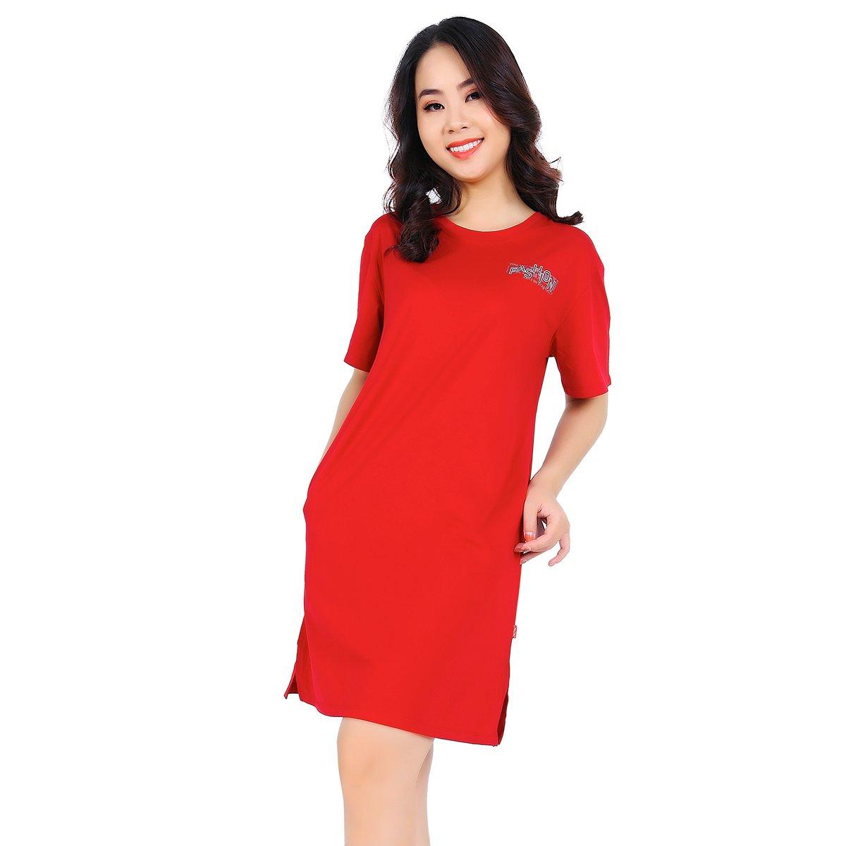 Váy đầm áo đầm tay ngắn cao cấp paltal addtn 022p 2010