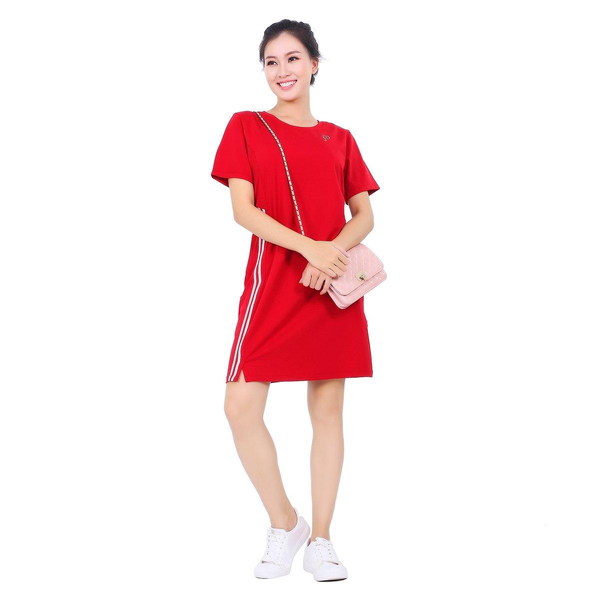 Váy đầm áo đầm tay ngắn cao cấp paltal addtn 022p 2047