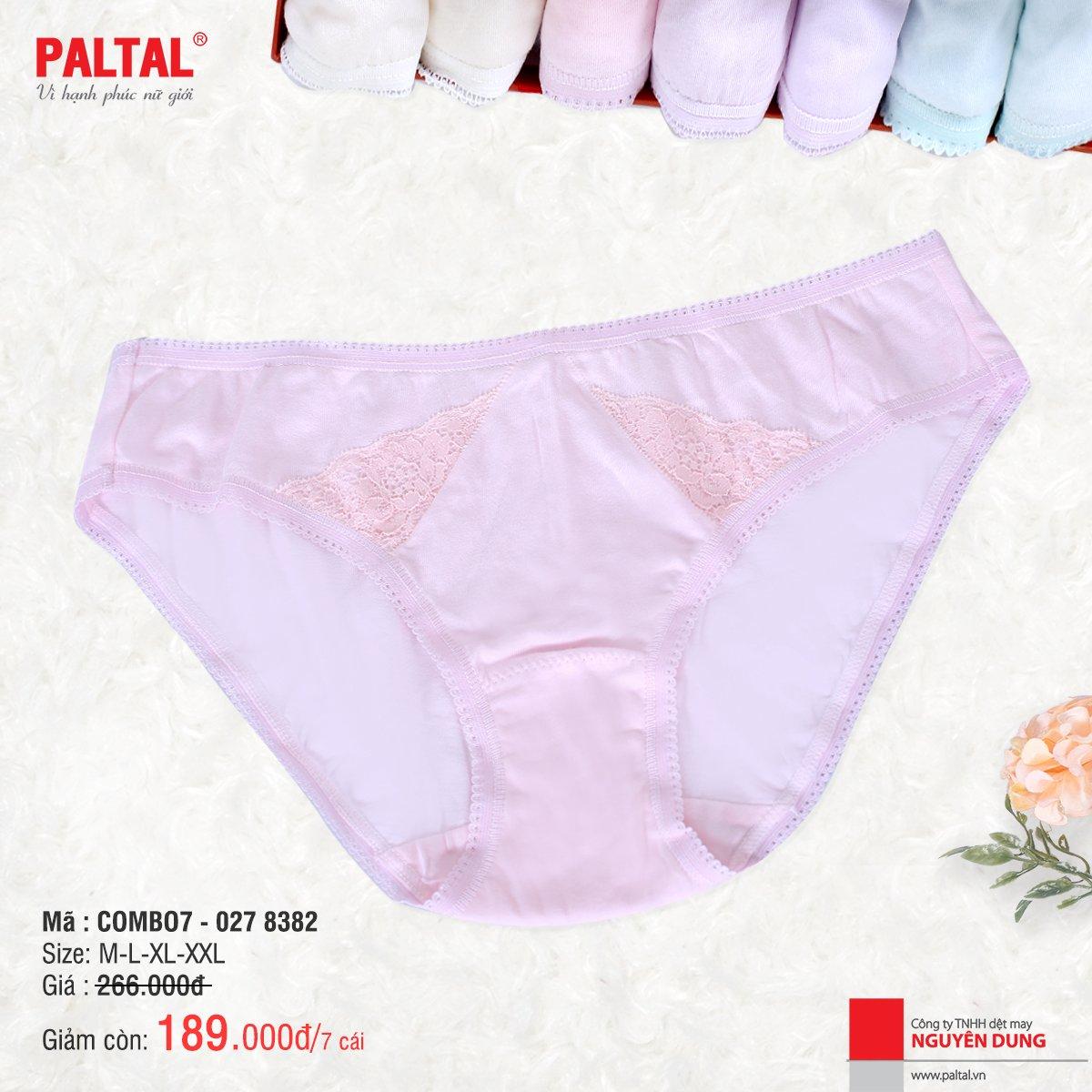 Combo 7 quần lót cao cấp paltal ql 027p 8382