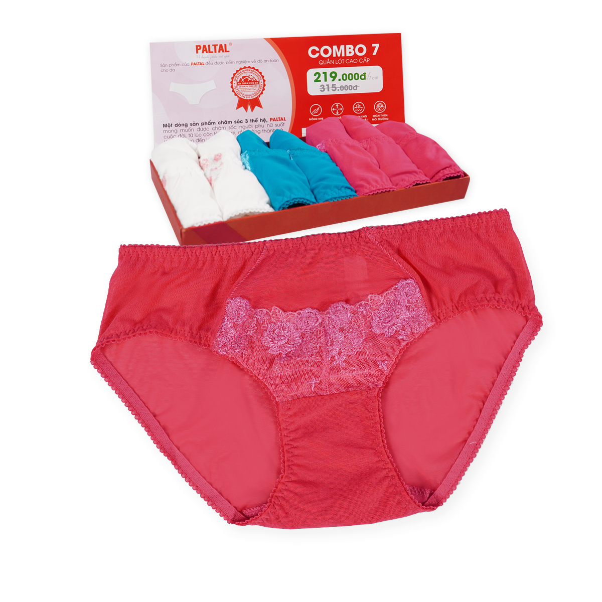 Combo 7 quần lót cao cấp paltal ql 077p 8258