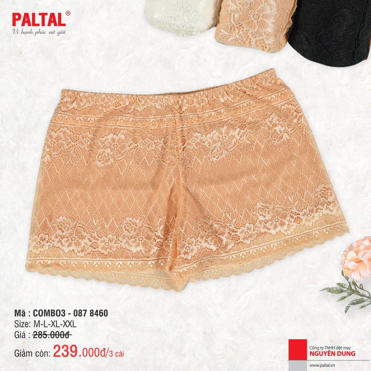 COMBO 3 QUẦN LÓT CAO CẤP PALTAL QL 087P 8460