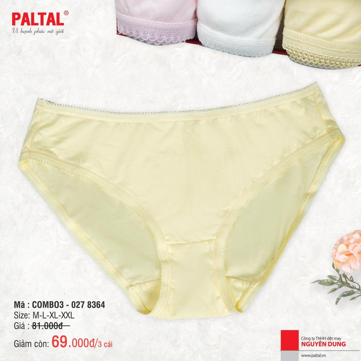Combo 3 quần lót cao cấp paltal ql 027p 8364