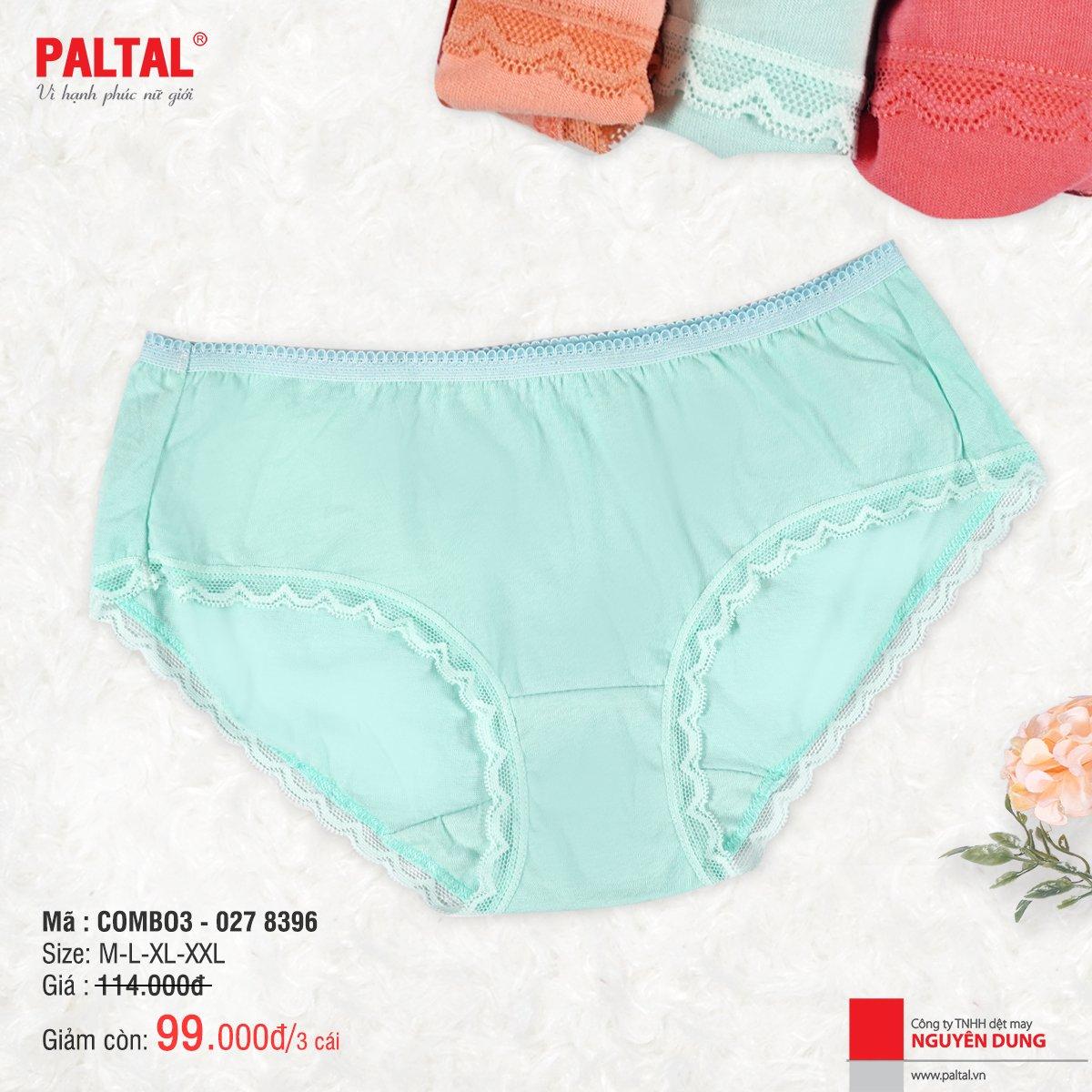 Combo 3 quần lót cao cấp paltal ql 027p 8396