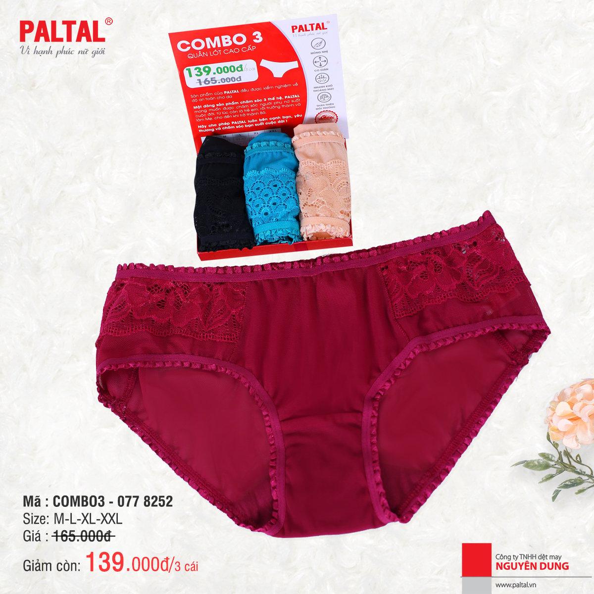 Combo 3 quần lót cao cấp paltal ql 077p 8252