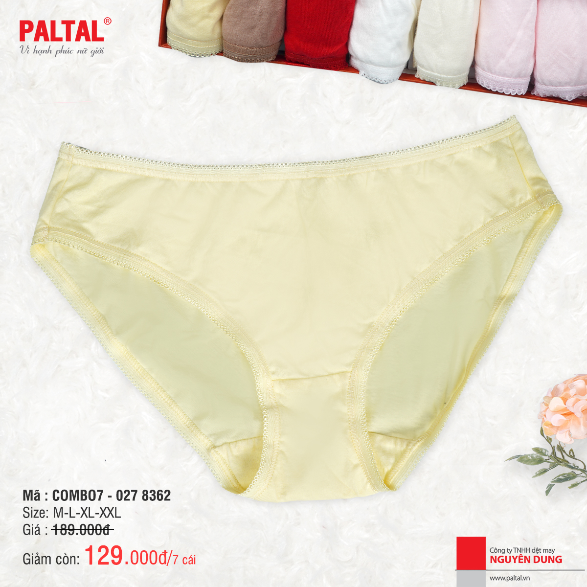 Combo 7 quần lót cao cấp paltal ql 027p 8362
