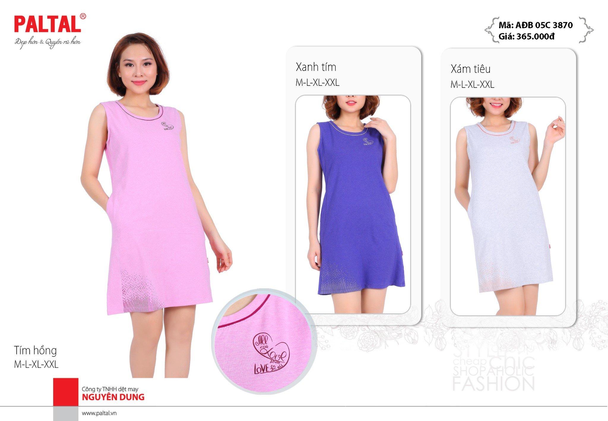 Váy đầm áo đầm không tay cao cấp paltal ađb 05cp 3870