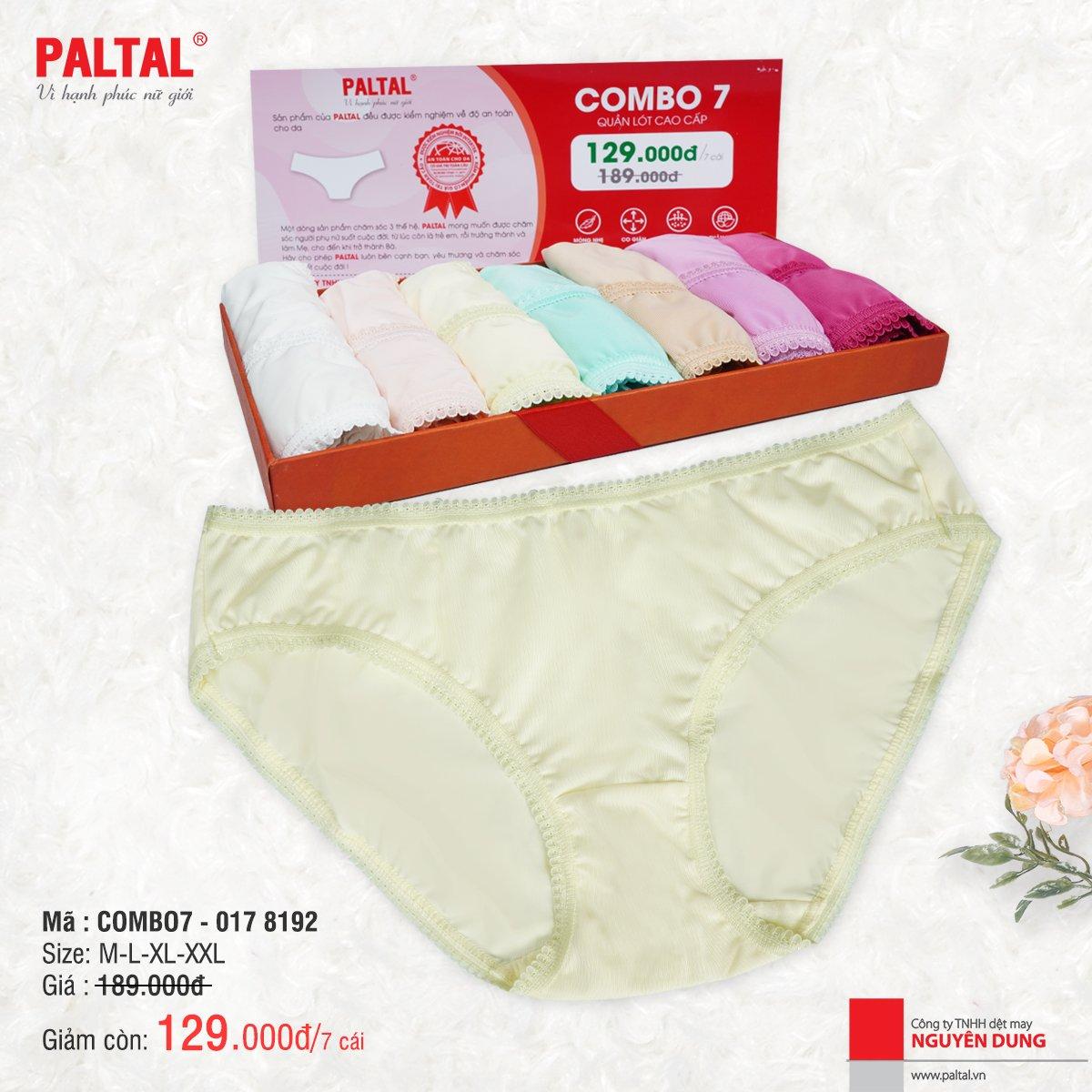 Combo 7 quần lót cao cấp paltal ql 017p 8192