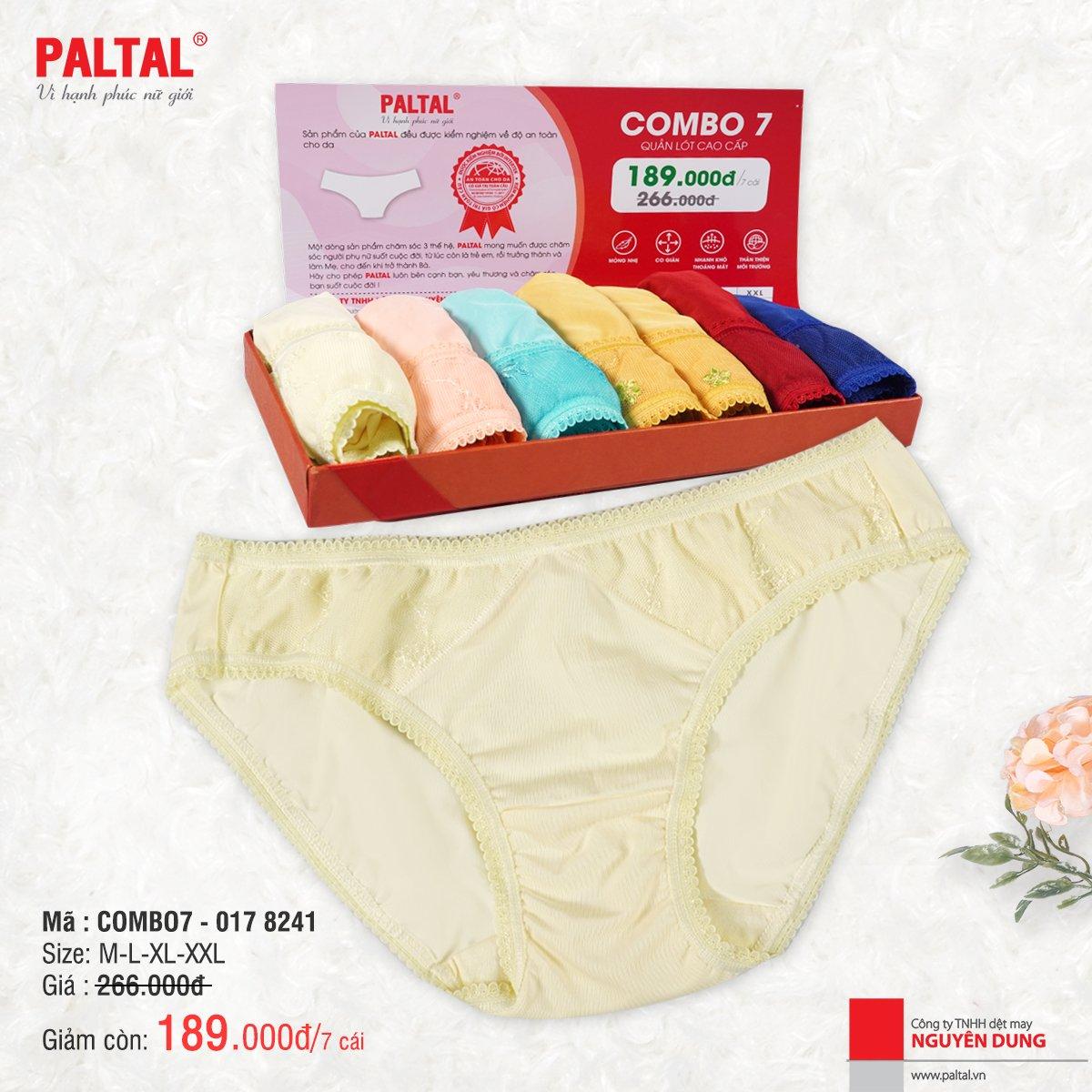COMBO 7 QUẦN LÓT CAO CẤP PALTAL QL 017P 8241