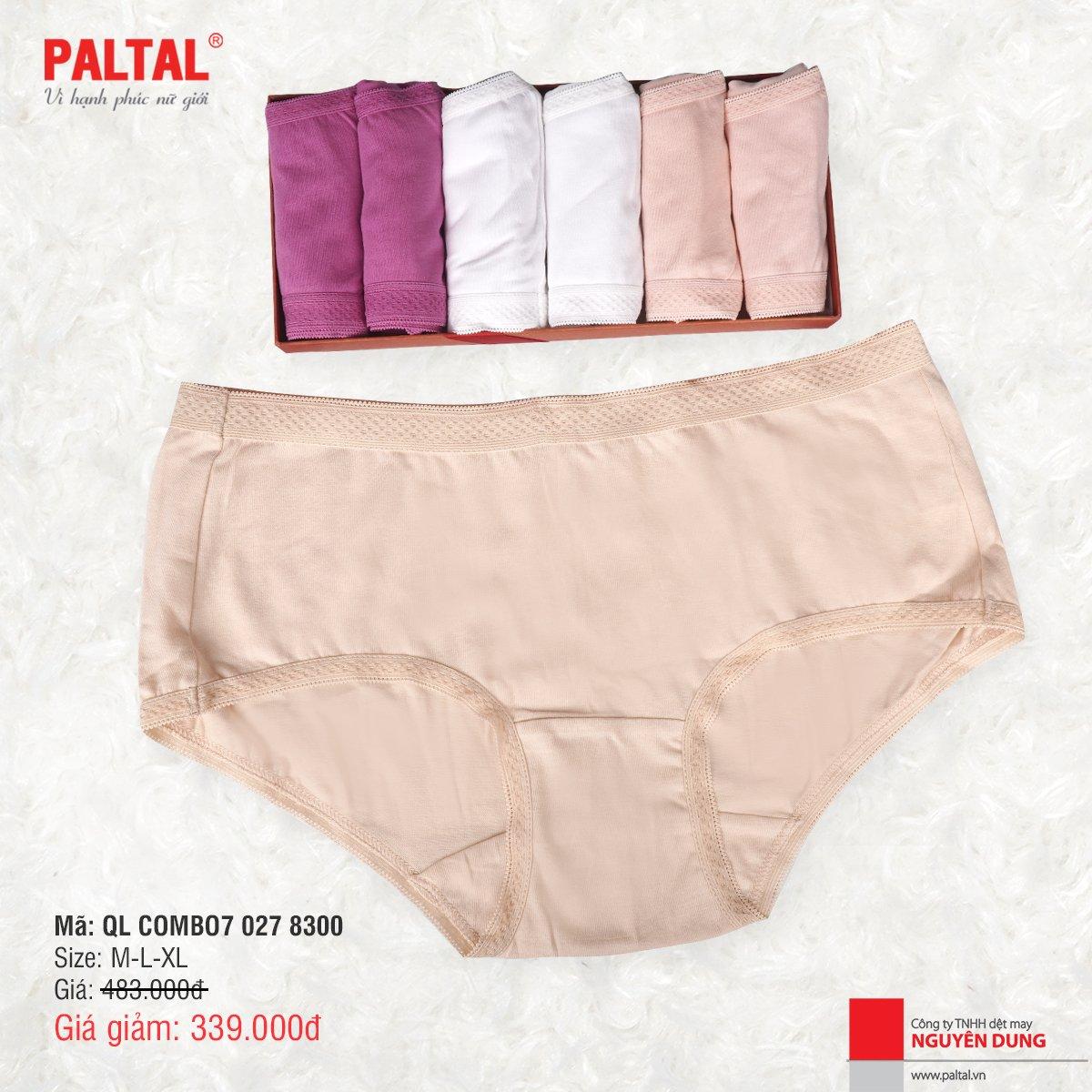 Combo 7 quần lót kháng khuẩn cao cấp paltal ql 027p 8300