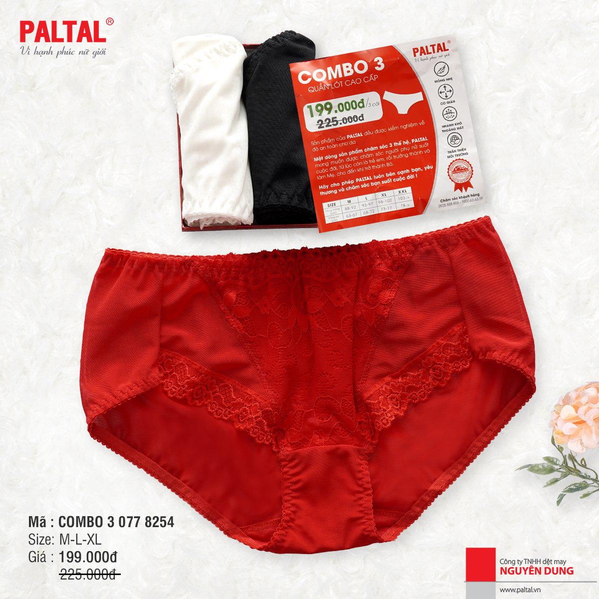 Combo 3 quần lót cao cấp Paltal ql 077p 8254