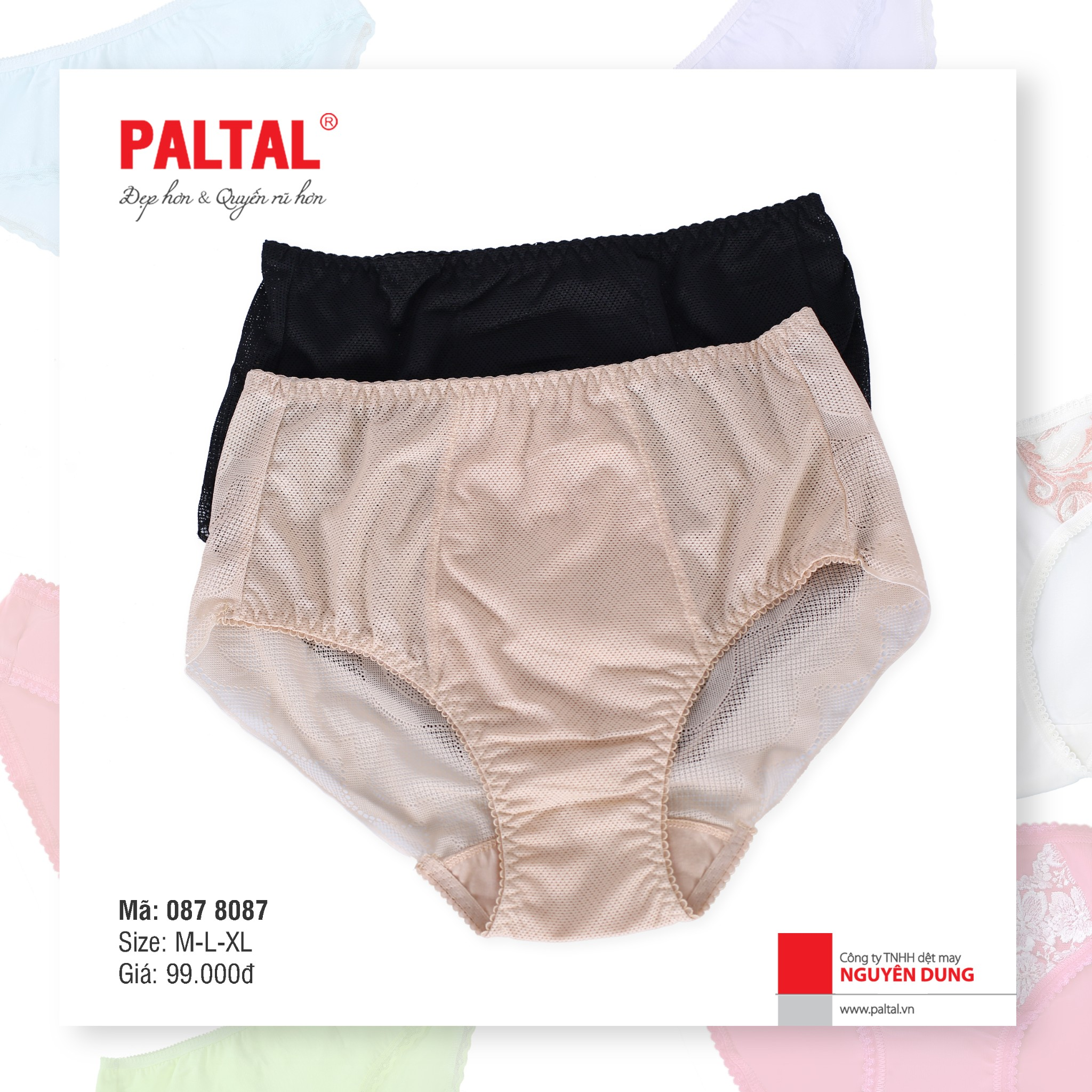 Quần lót gen bụng & body cao cấp paltal 087p 8087